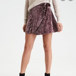American Eagle Velvet wrap skirt